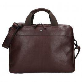 Luxusní pánská kožená taška Daag Martin - tmavě hnědá