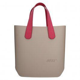 Dámská trendy kabelka Ju'sto J-Half Nicole - béžovo-červená