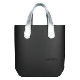 Dámská trendy kabelka Ju'sto J-Half Abbie - černo-stříbrná