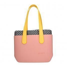 Dámská trendy kabelka Ju'sto J-Wide Dora - růžovo-žlutá