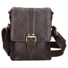 Panská kožená taška přes rameno SendiDesign Pier - hnědá