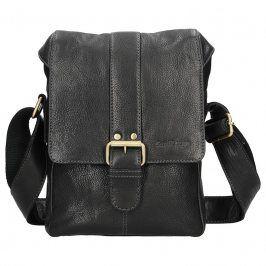 Panská kožená taška přes rameno SendiDesign Pier - černá