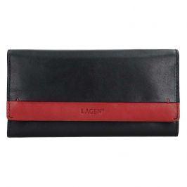 Dámská kožená peněženka Lagen Diona -černo-červená