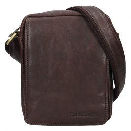 Pánská kožená taška přes rameno SendiDesign Karlos - tmavě hnědá