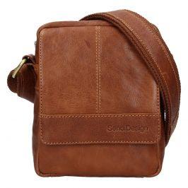 Pánská kožená taška přes rameno SendiDesign Petrson - koňak