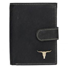 Pánská kožená peněženka Wild Buffalo Kon - černá