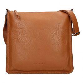Dámská kožená kabelka Facebag Lima - hnědá