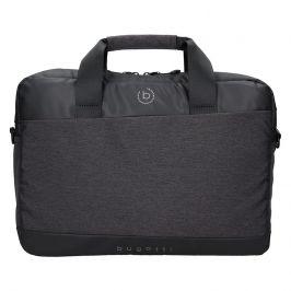 Pánská taška na notebook Bugatti Lopes - černo-šedá