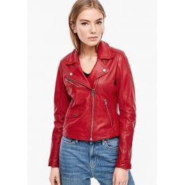 s.Oliver Q/S dámská kožená bunda 46.002.51.2194/3120 Červená S