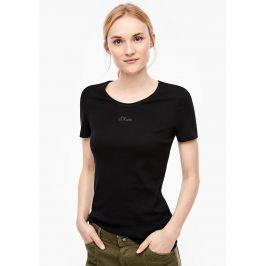 s.Oliver dámské tričko s logem 04.899.32.5004/9999 Černá 34