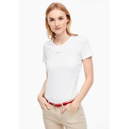 s.Oliver dámské tričko s logem 04.899.32.5004/0100 Bílá 36