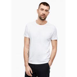 s.Oliver pánské triko bez nápisu 03.899.32.5049/0100 Bílá M