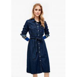 s.Oliver džínové šaty 14.002.82.7247/57Y5 Modrá 36