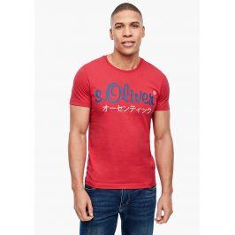 s.Oliver pánské triko s logem 13.002.32.4610/3250 Červená M