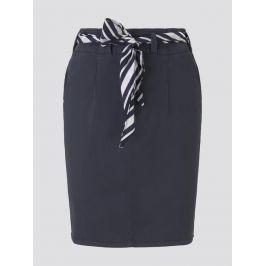 Tom Tailor plátěná sukně 1017443/10668 Modrá 36