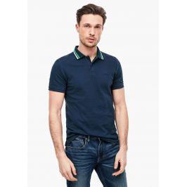 s.Oliver pánské tričko s límečkem 03.899.35.2306/5865 Modrá M