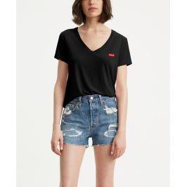Levis dámské tričko s výstřihem a logem 85341-0003 Černá M