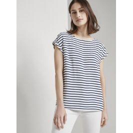 Tom Tailor Denim dámské pruhované triko 1016490/21355 Bílá XL