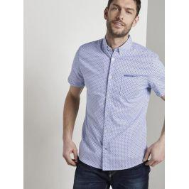 Tom Tailor pánská košile s krátkým rukávem 1017176/21928 Modrá L