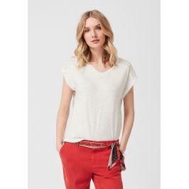 s.Oliver dámské tričko s krajkou 14.904.32.4208/0210 Bílá 34