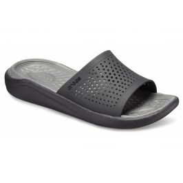 Crocs LiteRide Slide Black/Slate Grey Černá 41-42