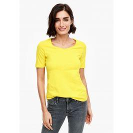 s.Oliver dámské triko s krátkým rukávem 04.899.32.5008/1201 Žlutá 36