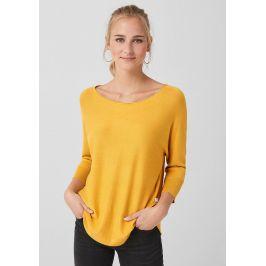 s.Oliver Q/S dámský svetr s netopýřími rukávy 45.899.61.2822/1549 Žlutá XL