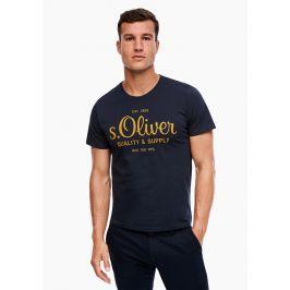 s.Oliver pánské tričko s logem 03.899.5264/5978 Modrá L