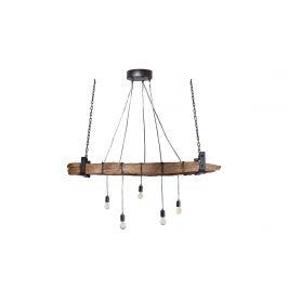 Moebel Living Dřevěné závěsné světlo Raw 152 cm
