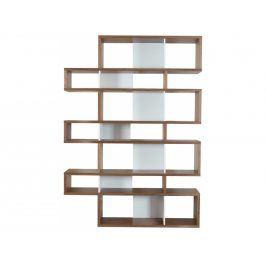 Knihovna Evora III. 220 cm, ořech/bílá 9500.314995 Porto Deco