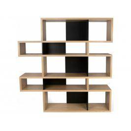 Knihovna Evora II. 160 cm, dub/černá 9500.319693 Porto Deco