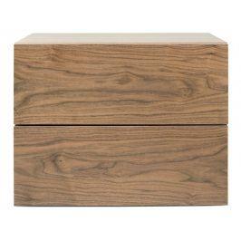Designový noční stolek Carmo, ořech 9500.758492 Porto Deco