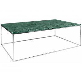 Konferenční stolek Amaro, chromovaná podnož, zelený mramor 9500.626104 Porto Deco