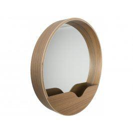 Závěsné zrcadlo ZUIVER ROUND WALL Ø 40 cm, dubová dýha 8100002 Zuiver
