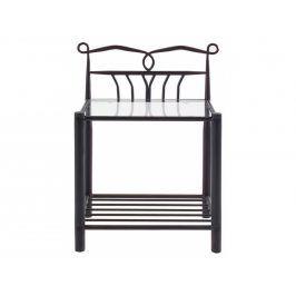 Noční stolek Charlota, kov, černá SCHDN7507708002 SCANDI