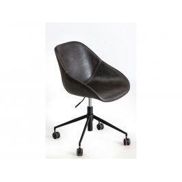 Kancelářská židle Poler, kůže/kov, tmavě šedá 89219 CULTY