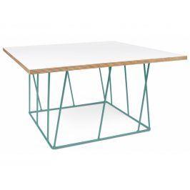 Konferenční stolek Rofus II, zelená podnož, matná bílá 9500.626876 Porto Deco