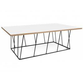 Konferenční stolek Rofus, černá podnož, bílá 9500.626944 Porto Deco