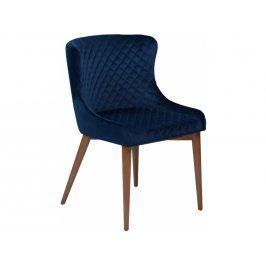Židle DanForm Vetro, tmavě modrý samet, podnož dub DF100250542 DAN FORM