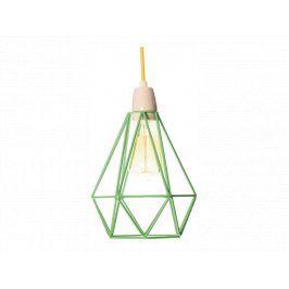 Závěsné světlo Diamond 1, světle zelená/žlutá filament006 FILAMENTSTYLE