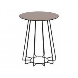 Odkládací stolek Goldy 40 cm, bronzová/černá SCHDNH000016291 SCANDI
