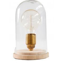 Moebel Living Skleněná retro stolní lampa Alva