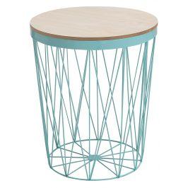 Moebel Living Mintově zelený kulatý odkládací stolek Ronde 37 cm