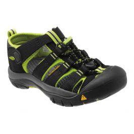 Dětské sandály Keen Newport H2 K Dětské velikosti bot: 24 (8) / Barva: black/lime green