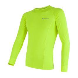 Pánské funkční triko Sensor Coolmax Fresh dl.rukáv Velikost: S / Barva: žlutá