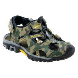 Dětské sandály Hi-Tec Inage JR Dětské velikosti bot: 28 / Barva: zelená/hnědá