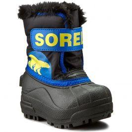 Dětské zimní boty Sorel Snow Commander Dětské velikosti bot: 25 / Barva: modrá/žlutá