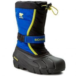 Dětské zimní boty Sorel Youth Flurry DTV Dětské velikosti bot: 25 / Barva: modrá/žlutá
