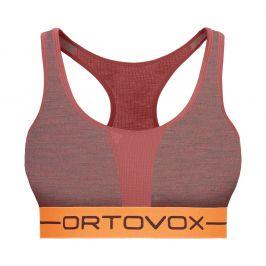 Sportovní podprsenka Ortovox 185 Rock'n'Wool Sport Top Velikost podprsenky: XS / Barva: červená