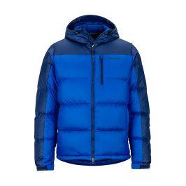 Pánská bunda Marmot Guides Down Hoody Velikost: S / Barva: modrá